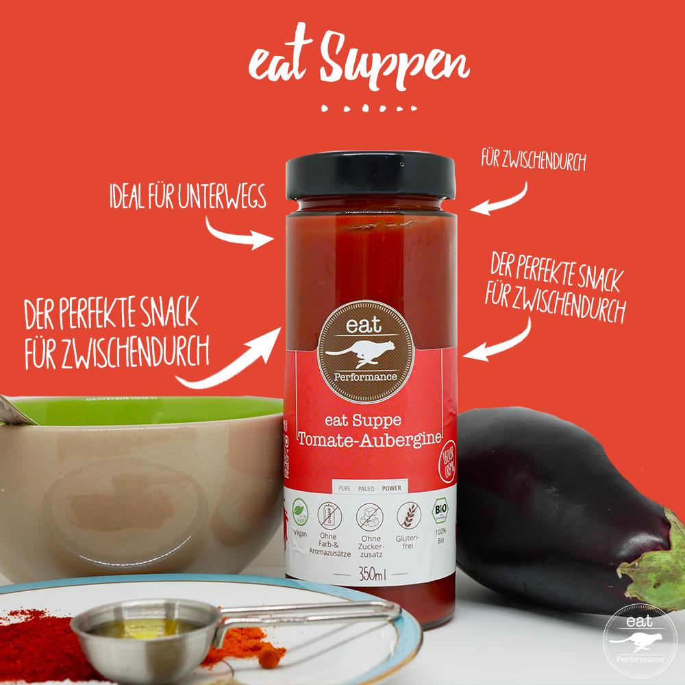 eat Suppe Tomate-Aubergine