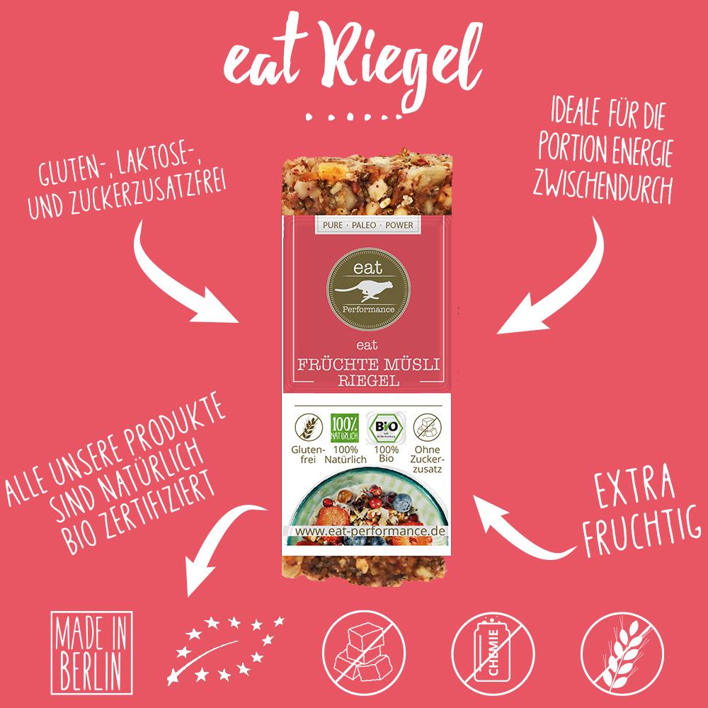eat Riegel Früchte Müsli